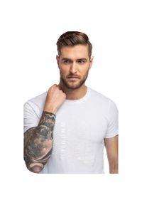 Biały t-shirt Giacomo Conti z nadrukiem