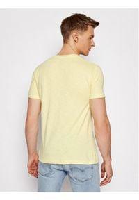 Pepe Jeans T-Shirt Golders PM503213 Żółty Slim Fit. Kolor: żółty
