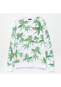Cropp - Bluza z nadrukiem - Biały. Kolor: biały. Wzór: nadruk