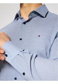 Tommy Hilfiger Tailored Koszula Geo Print MW0MW16451 Granatowy Slim Fit. Kolor: niebieski. Wzór: nadruk