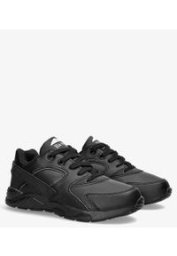 Casu - Czarne buty sportowe sznurowane casu ld34c-6. Kolor: czarny