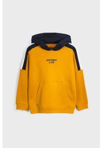 Pomarańczowa bluza Mayoral na co dzień, z kapturem, z nadrukiem, casualowa