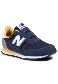 New Balance - Sneakersy NEW BALANCE - YV720NV2 Granatowy. Okazja: na spacer. Zapięcie: rzepy. Kolor: niebieski. Materiał: skóra ekologiczna, materiał. Szerokość cholewki: normalna