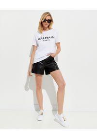 Biały t-shirt Balmain casualowy, na co dzień