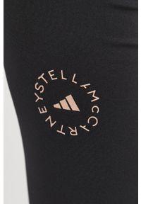 Adidas by Stella McCartney - adidas by Stella McCartney - Legginsy. Stan: podwyższony. Kolor: czarny. Materiał: dzianina