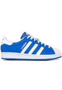 Niebieskie półbuty Adidas z cholewką, casualowe