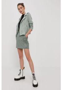 Zielona kurtka Vero Moda gładkie, bez kaptura