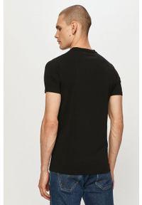 Karl Lagerfeld - T-shirt. Kolor: czarny. Wzór: aplikacja
