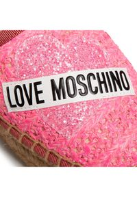 Różowe baleriny Love Moschino
