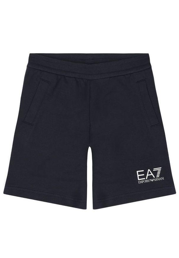 Niebieskie spodenki sportowe EA7 Emporio Armani