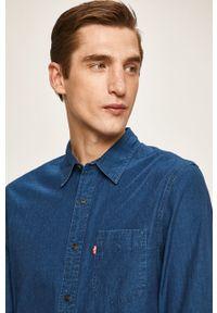 Niebieska koszula Levi's® długa, z klasycznym kołnierzykiem, klasyczna