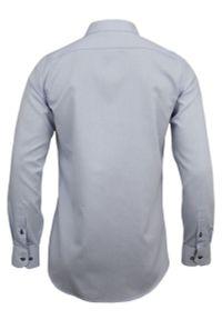 Elegancka koszula Rey Jay w geometryczne wzory, z długim rękawem