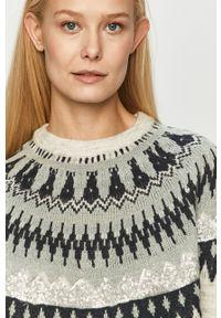 Szary sweter Jacqueline de Yong z aplikacjami, na co dzień