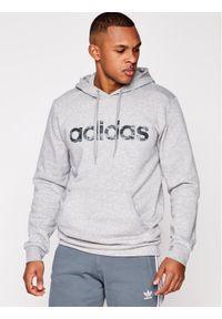 Adidas - adidas Bluza Camo Linear EI9728 Szary Regular Fit. Kolor: szary