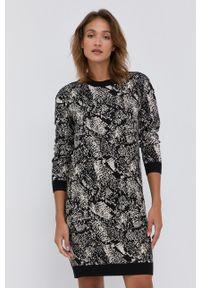 Liu Jo - Sukienka. Okazja: na co dzień. Kolor: czarny. Materiał: dzianina. Typ sukienki: proste. Styl: casual