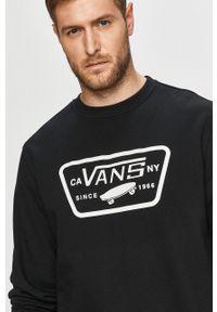 Czarna bluza nierozpinana Vans na co dzień, z nadrukiem, casualowa