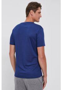 Polo Ralph Lauren - T-shirt bawełniany. Typ kołnierza: polo. Kolor: niebieski. Materiał: bawełna. Wzór: gładki, aplikacja