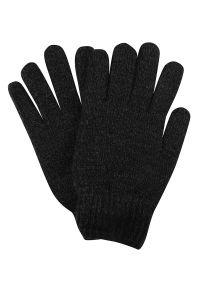 Szare rękawiczki Pako Jeans melanż, eleganckie