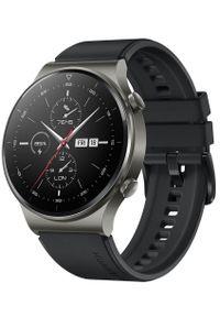 HUAWEI - Huawei Watch GT 2 Pro Sport Night Black. Kolor: czarny. Styl: sportowy