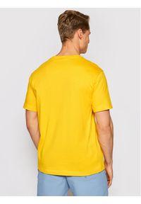 Champion T-Shirt Small Script Logo 215940 Żółty Comfort Fit. Kolor: żółty