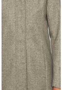 Szary płaszcz Vero Moda casualowy, z kapturem, na co dzień