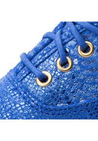 Niebieskie półbuty Keds na płaskiej podeszwie, z cholewką #8