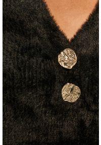 Czarny sweter Morgan z długim rękawem, długi, casualowy
