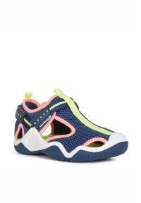 Niebieskie sandały Geox z okrągłym noskiem