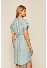Niebieska sukienka Noisy may na co dzień, prosta, mini, casualowa