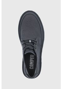 Camper - Półbuty Morrys. Nosek buta: okrągły. Zapięcie: sznurówki. Kolor: szary. Materiał: guma