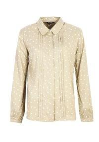 Brązowa koszula TOP SECRET w grochy