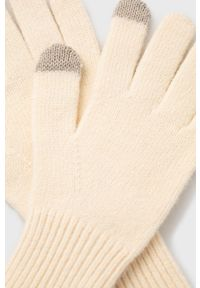 only - Only - Rękawiczki. Kolor: beżowy. Materiał: dzianina