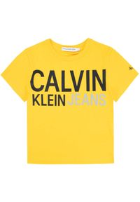 Żółty t-shirt Calvin Klein Jeans