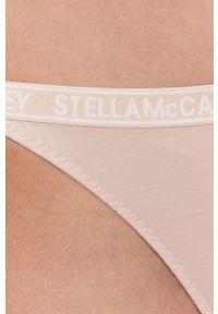 Stella McCartney Lingerie - Stringi. Kolor: różowy. Materiał: bawełna
