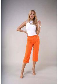Pomarańczowe spodnie z wysokim stanem Nommo eleganckie