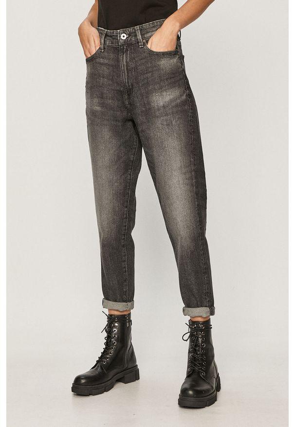 Szare jeansy G-Star RAW z podwyższonym stanem