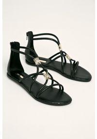 Czarne sandały Aldo bez obcasa