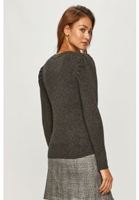 Szary sweter Morgan z długim rękawem, długi, casualowy, na co dzień