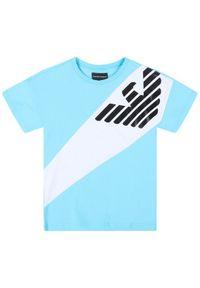 Emporio Armani T-Shirt 3H4T03 4J09Z 0752 Niebieski Regular Fit. Kolor: niebieski