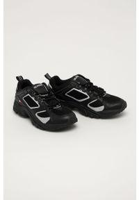 Czarne sneakersy Tommy Jeans z okrągłym noskiem, z cholewką