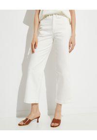NANUSHKA - Białe jeansy Jane. Stan: podwyższony. Kolor: biały. Sezon: lato. Styl: elegancki