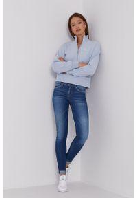 GAP - Bluza. Kolor: niebieski. Długość: krótkie