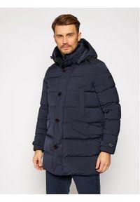 Niebieska kurtka puchowa Hetrego na zimę
