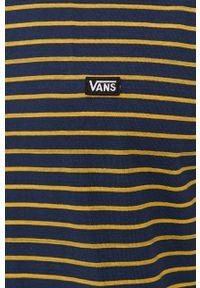 Vans - Longsleeve bawełniany. Okazja: na co dzień. Kolor: niebieski. Materiał: bawełna. Długość rękawa: długi rękaw. Styl: casual
