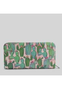 Portfel damski wegański Mumka Kaktusy. Wzór: kolorowy