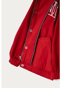 Czerwona kurtka TOMMY HILFIGER casualowa, na co dzień, bez kaptura