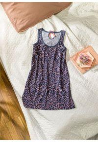 Koszula nocna bonprix dymny fioletowy z nadrukiem
