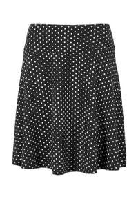 Cellbes Dżersejowa spódnica w kropki Czarny w kropki female czarny/ze wzorem 62/64. Kolor: czarny. Materiał: jersey. Wzór: kropki