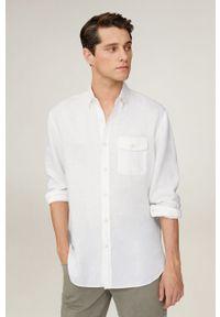 Biała koszula Mango Man długa, klasyczna, z klasycznym kołnierzykiem, na co dzień