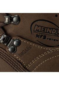 Brązowe buty trekkingowe MEINDL trekkingowe, Gore-Tex, z cholewką